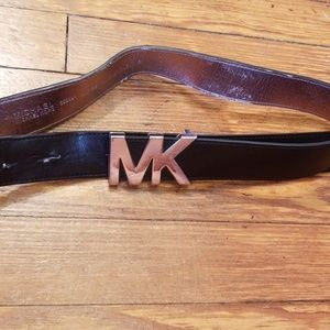 michael kors synthetic leather large belt